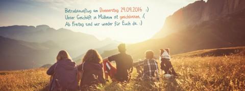 Betriebsausflug am Donnerstag 29.09.2016