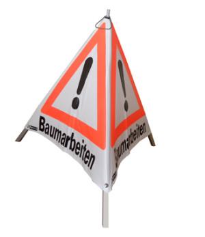 Warnpyramide Baumarbeiten/90  cm