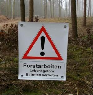 """Absperrbanner """"Forstarbeiten"""""""