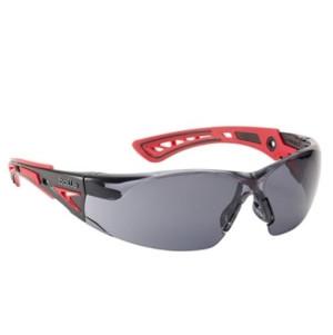 Bollé - Rush plus Schutzbrille, rot-schwarz / smoke