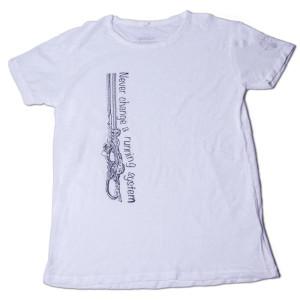 Limbwalk Never change T-Shirt-Männer/L/weiß
