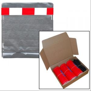 Stein - Warnmarkierung modulares Schutzsystem rot/weiß