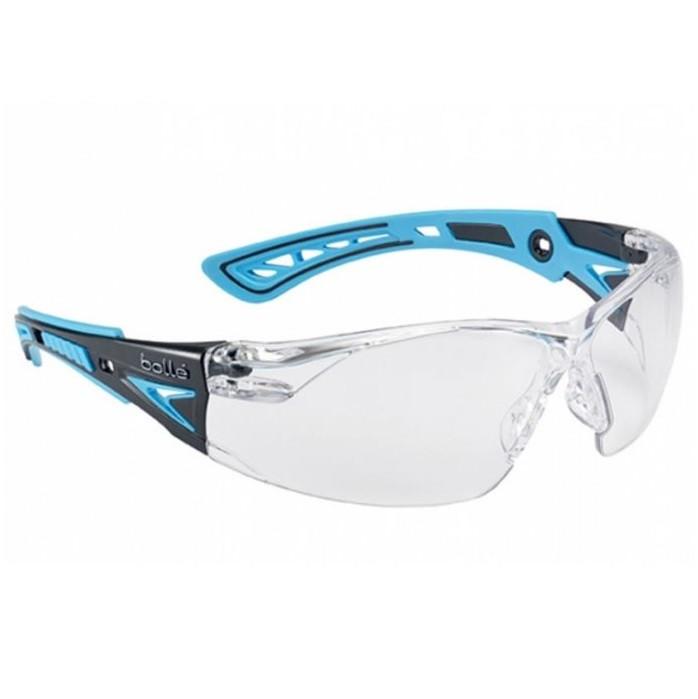 Bollé - Rush plus SMALL Schutzbrille/ blau-weiß/ klar