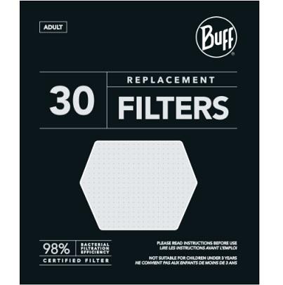 Buff Ersatzfilter für Tube & Mask, 30 Stück