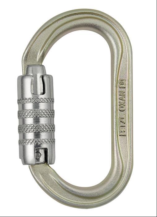 Petzl - Oxan Triact-Lock ovaler Stahlkarabiner