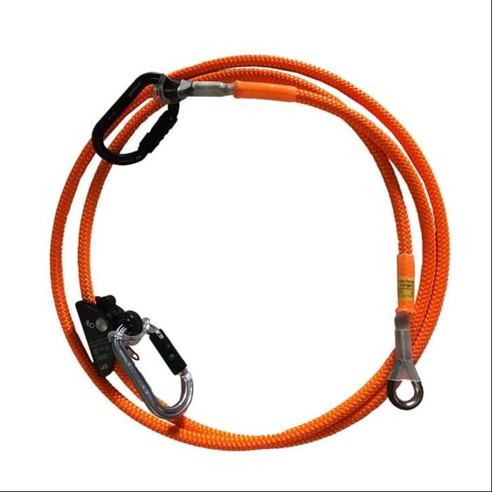 Stahlhalteseilset Pott-Strop mit Ropegrab-Seilklemme /5m